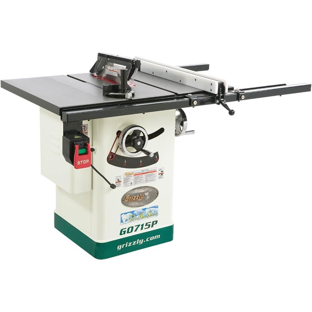 Grizzly g0715p polar bear series hybrid table saw with riving knife grizzly g0715p polar bear series hybrid table saw with riving knife 10 inch power table saws amazon greentooth Choice Image