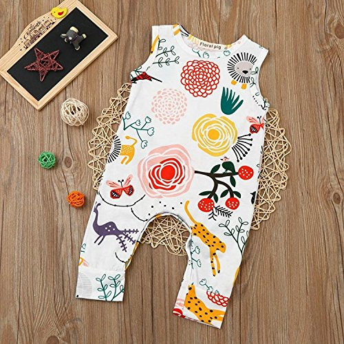 0d99d09c955 Happy kido Newborn Baby Girls Flower Animal Print Romper Bodysuit Outfits  Spring Summer Tops