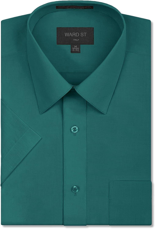 Ward St Mens Regular Fit Short Sleeve Dress Shirts