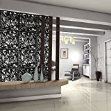 Kernorv Hanging Room Divider Made Environmentally PVC, 12 PCS Partitions Panel Screen Decorating Bedroom, Dining, Study Sitting-room, Hotel, Bar Restaurant. (12, Black)