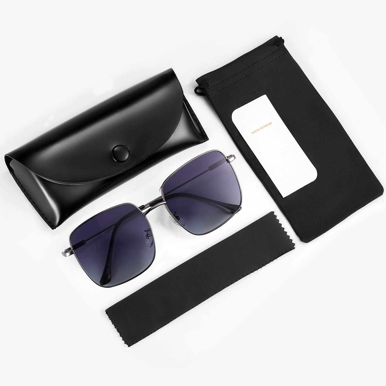 rezi Occhiali da Sole da Donna Retro Vintage Stile Lennon Montatura Quadrata- Diversi Colori 100/% UV 400 Protezione in Metallo Occhiali da sole Vintage Occhiali da Sole da Donna Polarizzati