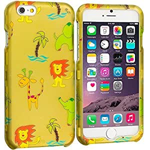 Accessory Planet(TM) Zoo 2D Hard Snap-On Design Rubberized Case Cover Accessory for Apple iPhone 6 Plus (5.5)