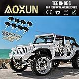For Jeep Wrangler JK Hard Top Quick Removal Change Kit set of 8 Tee Knobs fits all 2007 thru 2016 Models