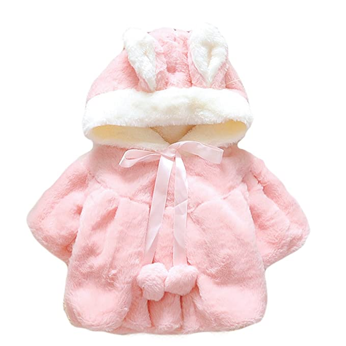 fb13b9e2c Amazon.com  Saymequeen Baby Girls Rabbit Style Warm Coat Cloak ...