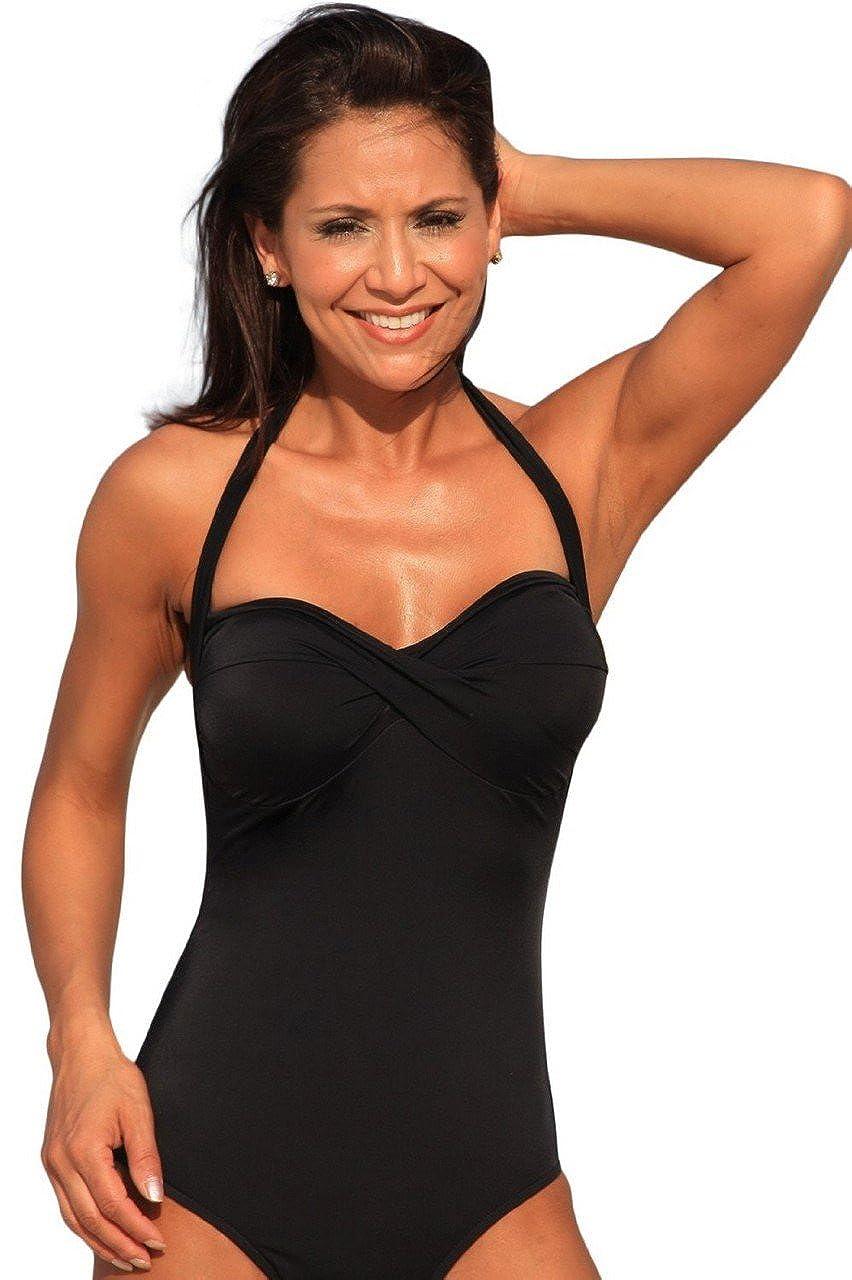 b1c4d653c1a UjENA Black Matte High Cut Monroe 1-PC Swimsuit Beachwear at Amazon Women's  Clothing store: Fashion One Piece Swimsuits