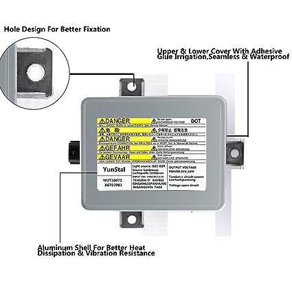 Amazoncom Xenon HID Headlight Ballast Control Unit Module With - 2005 acura tl ballast