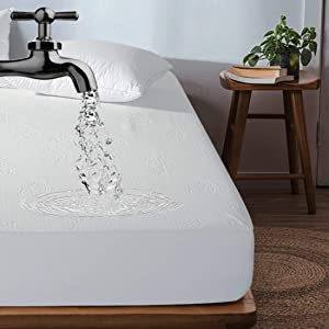 """INGALIK Waterproof Mattress Protector Full Size Breathable Mattress Cover Hypoallergenic (8""""-21"""" Deep Pocket - Vinyl, PVC and Phthalate Free)"""