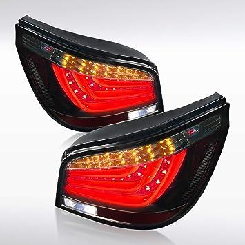 2004-2007 BMW E60 5-Series 525i 530i Clear LED Light Bar Tail Brake Lamps Pair