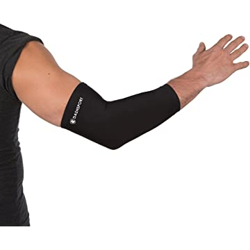 mini Copper Compression Elbow Sleeve - 200 GSM Material with Highest Copper Content - Elbow Brace Support and Recovery you can Wear Anywhere. Golfers And Tennis Elbow