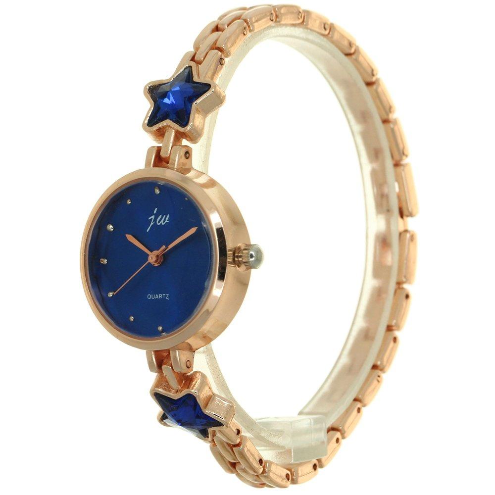 Fashion Women Stars Shape Crystal Bracelet Watch Band Casual Quartz Radial Laser Pattern Dial Wristwatch Jewelry Diamond Cut Glass Window Gift Watch