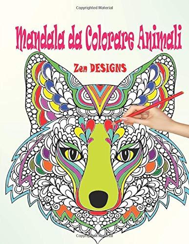 Mandala Da Colorare Animali Libri Da Colorare Mandala Antistress
