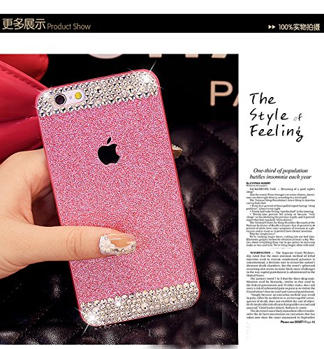 cbee8c7ad8f583 AppBox Ultrathin Glitter Bling Anti-Shock Silicone Gel Case Flexible Shiny  Sparkling Premium Soft Back Case Cover Protector with Crystal Rhinestone  for ...