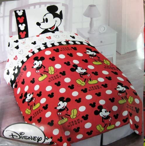 Amazon.com: Mickey Mouse Twin Bedding (4 Piece Set): Home & Kitchen