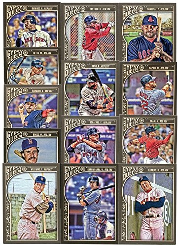 Boston Red Sox 2015 Topps Gypsy Queen MLB Baseball Complete Mint Basic 13 Card Team Set with Rusney Castillo Rookie Ted Williams Plus