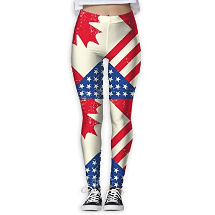880ac4714ca1a7 Amazon.com: Women's Girl's Canadian Canada American USA Flag Full ...