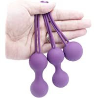 HITARO Bolas Kegel Ejercitador Kegel, Bolas Ben WA kegal Pesos Kit para Principiantes Vagina apretando Control de la vejiga y los Ejercicios del Suelo pélvico para Mujeres Purple