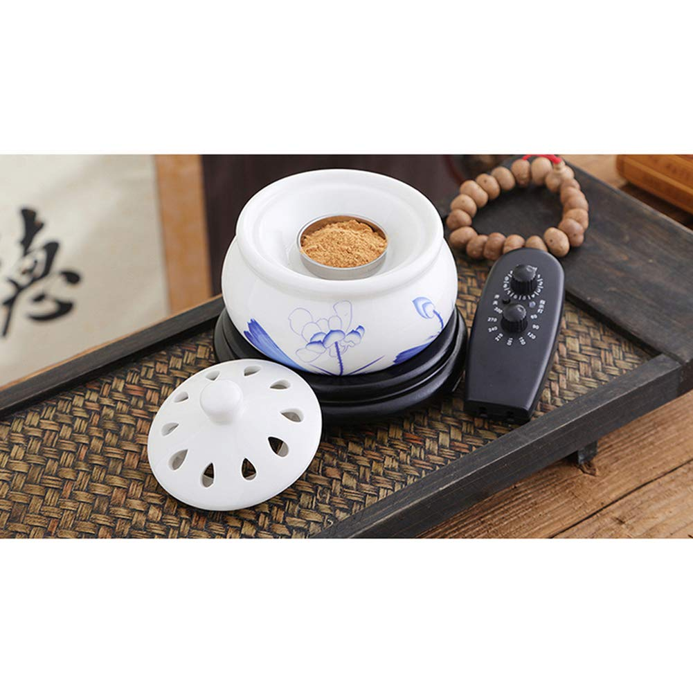 RXBFD Incense Burner - Timing Temperature Control Electronic Ceramic Aromatherapy Furnace - Agarwood Furnace Essential Oil Electronic Aromatherapy Lamp by RXBFD (Image #3)