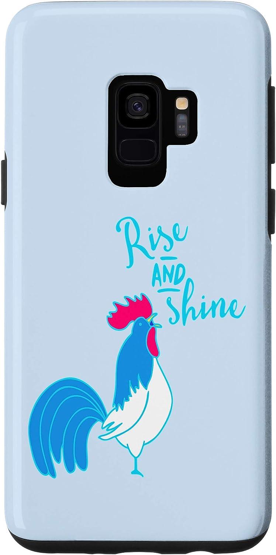 Galaxy S9 Cute Farm Graphic Design Decor with Rise and Shne Case