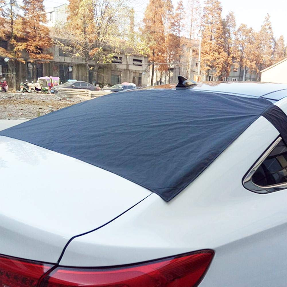 Rear Windscreen Snow Cover,Premium Winter Windshield Magnetic Cover Protects Car from Sun, Fallen Leaves, Snow, Tree Sap, Pollen, Dust, Ice and Frost Fits Most Cars Trucks and SUVs Ya-tube