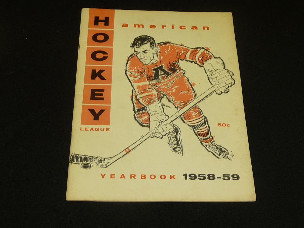 1958 59 Ahl American Hockey League League Yearbook Guide Lots Of