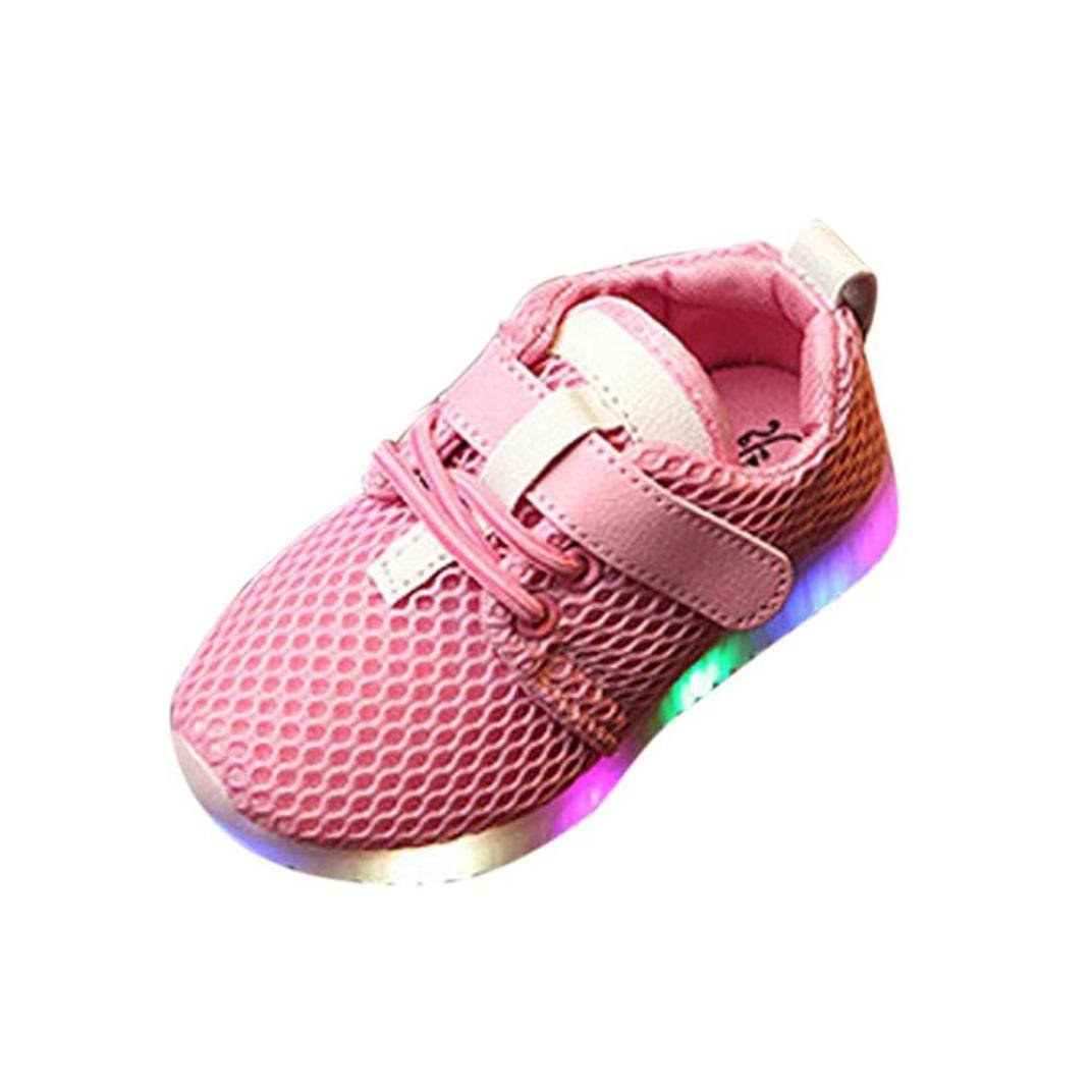 Muium Children Trainers Running Shoes Toddler Infant Baby Boys Girls Light Up Luminous Sneakers Boots For 1-6 Years Old
