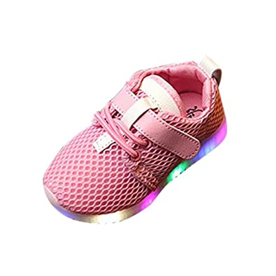 0b2f27559a6 Muium Children Trainers Running Shoes Toddler Infant Baby Boys Girls Light  Up Luminous Sneakers Boots for