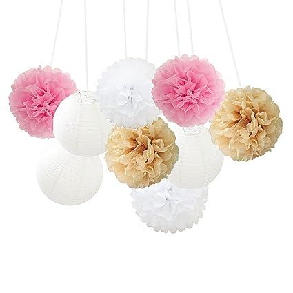 Amazon Mixed Color Fluffy Tissue Paper Pom Pom Flower Balls