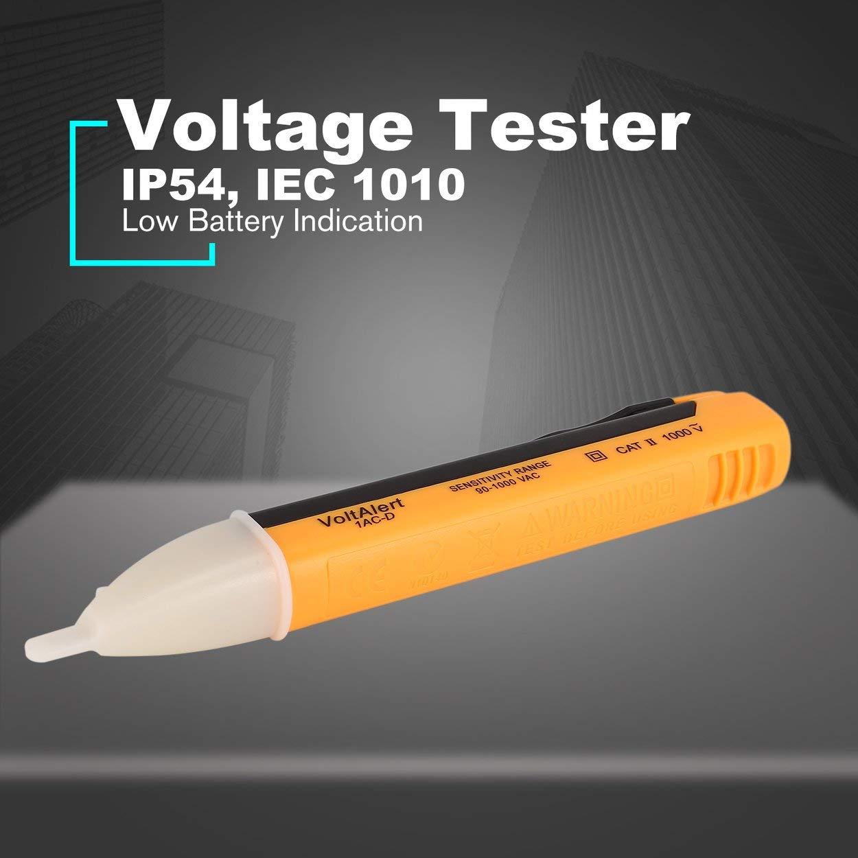 Lofenlli AC DC Tension D/étecteur NCV Testeur Sans Contact Stylo Volt M/ètre Capteur Test /Électrique Crayon 90V /à 1000V Sensibilit/é Voltm/ètre