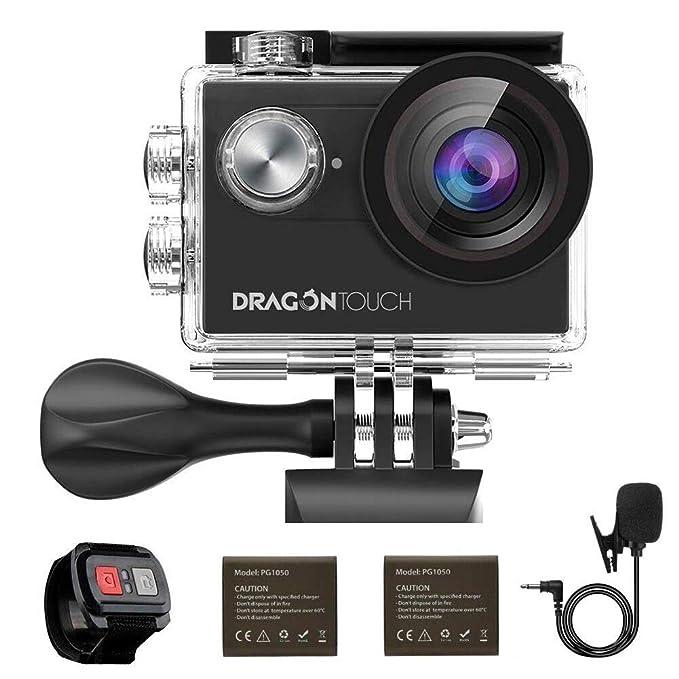 Sport & Action-videokamera Akaso Dragontouch 4 K Eis Action Kamera 16mp Vision 4 Unterwasser Kamera Fernbedienung Wifi Sport Kamera Unterstützung Externe Mic