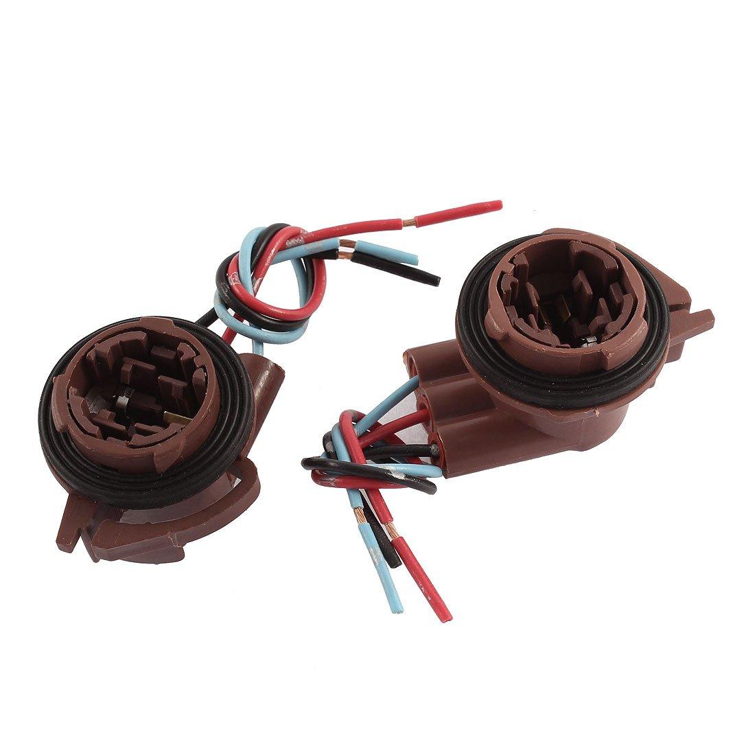 61xM4GVGjfL._SL1100_ amazon com uxcell 2pcs car 3157 light socket harness wire  at alyssarenee.co