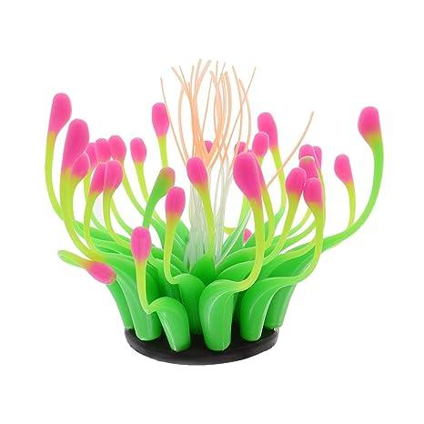 Saim - Adornos para Decoración de Acuario de Silicona Realista, Diseño de Plantas de Coral