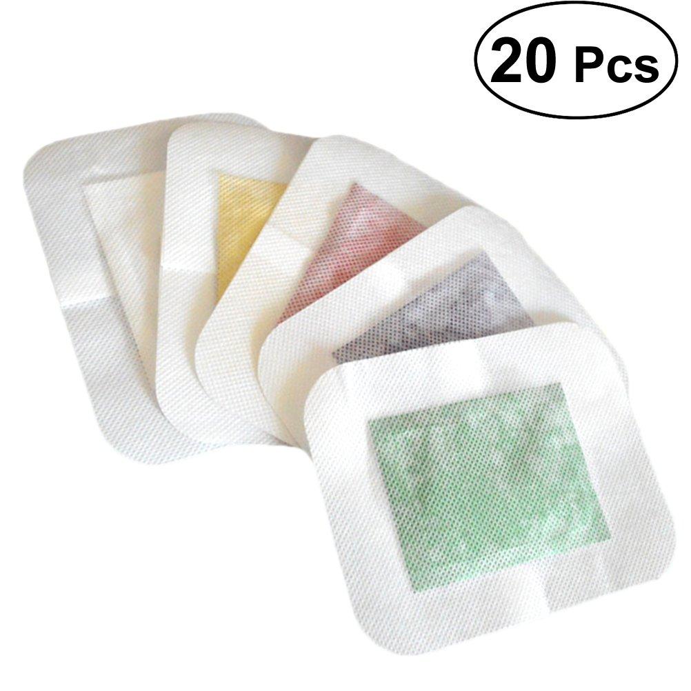 HEALIFTY Parche de pie Almohadilla de pie natural para aliviar el dolor con cinta adhesiva 20pcs