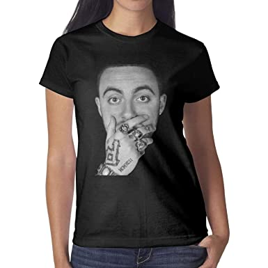 6489d6ccb Image Unavailable. Image not available for. Color: AFAWNKJN1 Short Sleeve tee  Shirts for Women's for Mac-Miller-Good-Am-