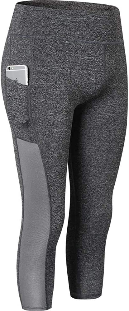 Womens Leggings Fitness Running Gym Exercise Yoga Pants Capri Active Sports 2087