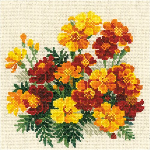 "RIOLIS Marigolds Counted Cross Stitch Kit 7.75""X7.75"" 14 Cou"