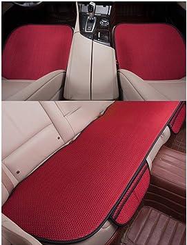 Glitzfas Auto Sitzauflage Autositzauflage Universal Sommer Autositzbezug Auto Vordersitz Rücksitz Kissen 3pcs Rot Auto