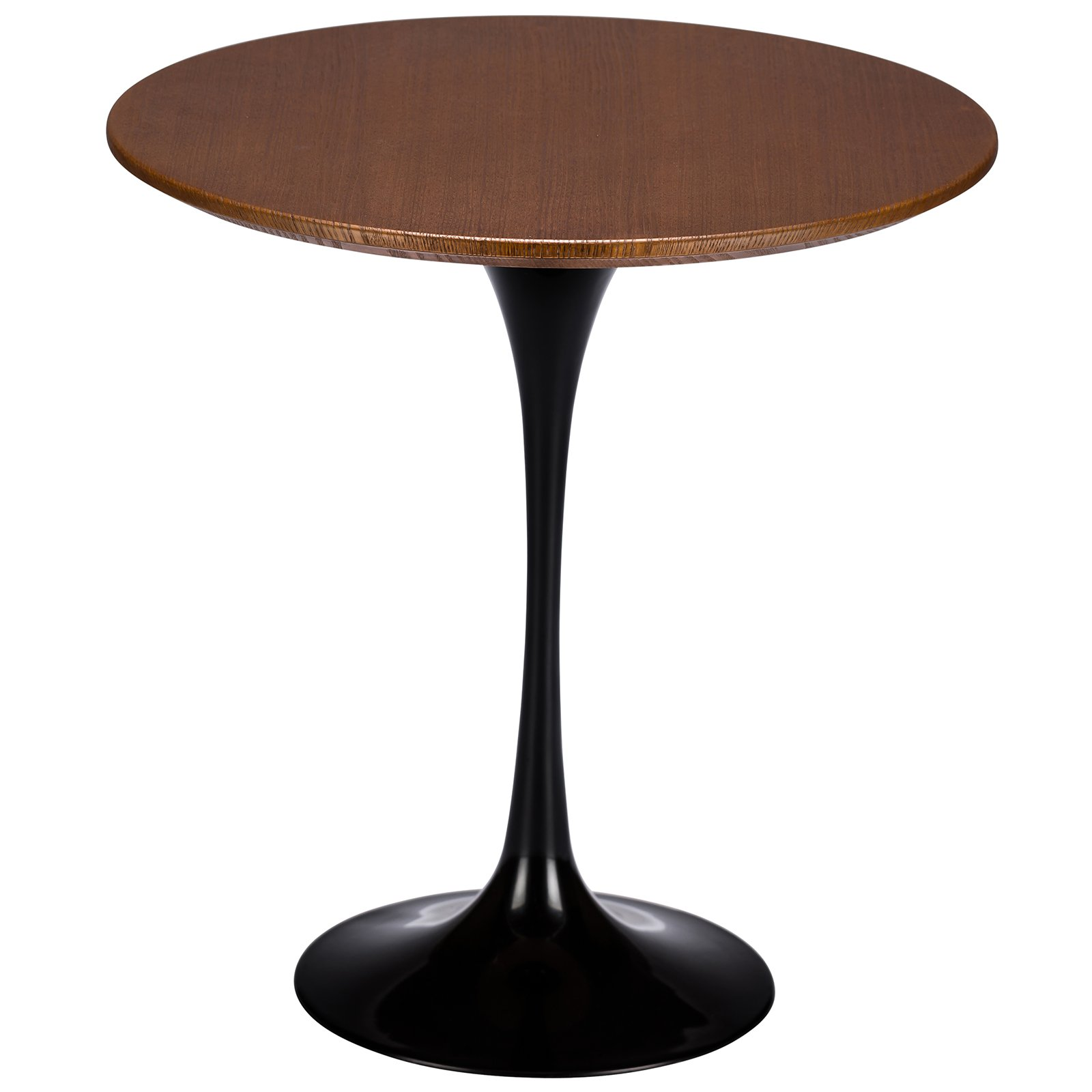 """Poly and Bark Daisy 20"""" Walnut Top Side Table in Black"""