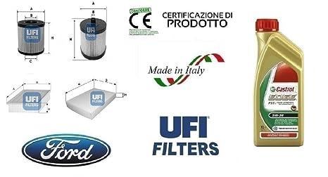 Kit 4 filtros Tagliando UFI Ford Focus C-Max 2.0 TDCi 100 kW + 4