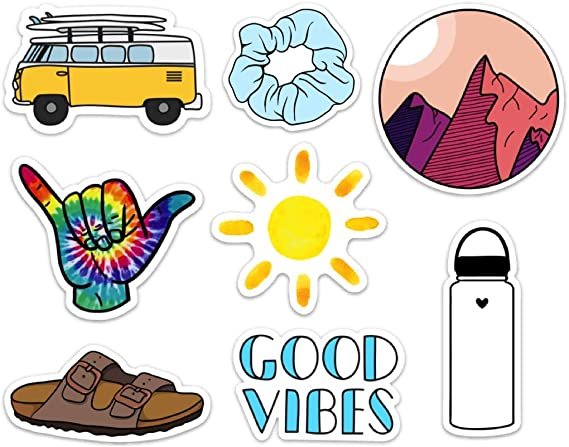 Cute Nature VSCO Girl Stickers for Water Bottles and Laptops