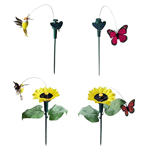 Fityle 4 estacas de Mariposa para Pájaros con piquetas de Girasol ...