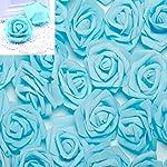 100pcs-28inch-Foam-Rose-Heads-Artificial-Flowers-Wedding-Bride-Bouquet-Party-Decor-DIY