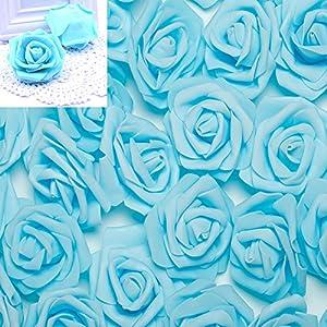 100pcs 2.8inch Foam Rose Heads Artificial Flowers Wedding Bride Bouquet Party Decor DIY 33