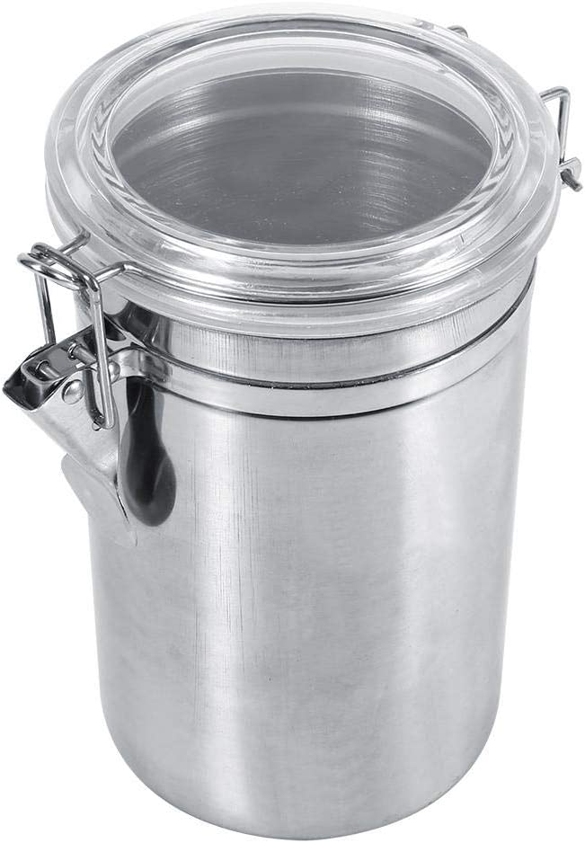 Zetiling Stainless Steel Kitchen Food Storage Container, Kitchen Food Storage Canister Airtight Canister Storage Container for Milk Powder Grains Tea Coffee Sugar Flour(XL)