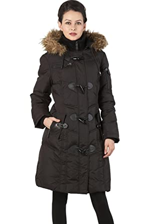 Amazon.com: BGSD Women's Water Resistant Quilted Down Toggle Coat ...