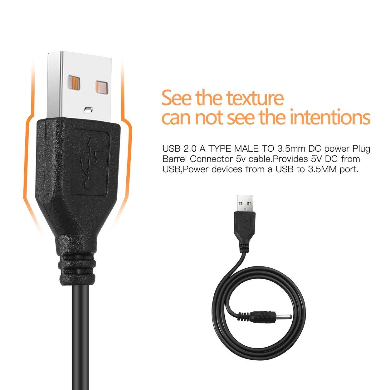 Losenlli Cable USB 2.0 A TIPO MACHO A 3.5 mm Conector de alimentaci/ón est/éreo Dispositivo electr/ónico est/éreo Cable r/ápido de 5 V