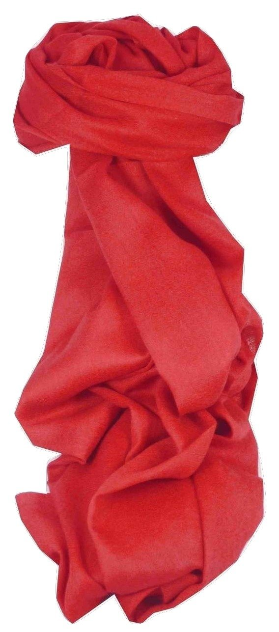 Fine Cashmere Stole Karakoram Birds-Eye Weave Ruby by Pashmina & Silk 8800216610053