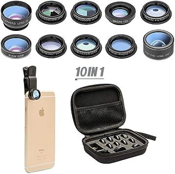 ABREOME 10 en 1 Objetivo de Cámara para iPhone Samsung Sony la ...