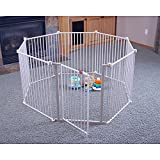 Cheap Regalo 4-in-1 Extra Large Metal Playard Child Safety Gates