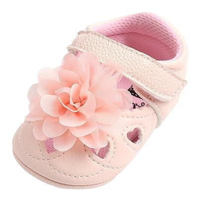 QinMM Bébé Toddler Ballerines Premiers Marcheurs Fleur Chaussures, Fille Princesse évider Fashion Bandage Forme de Coeur Creux Casual Plat Soiree Charmant