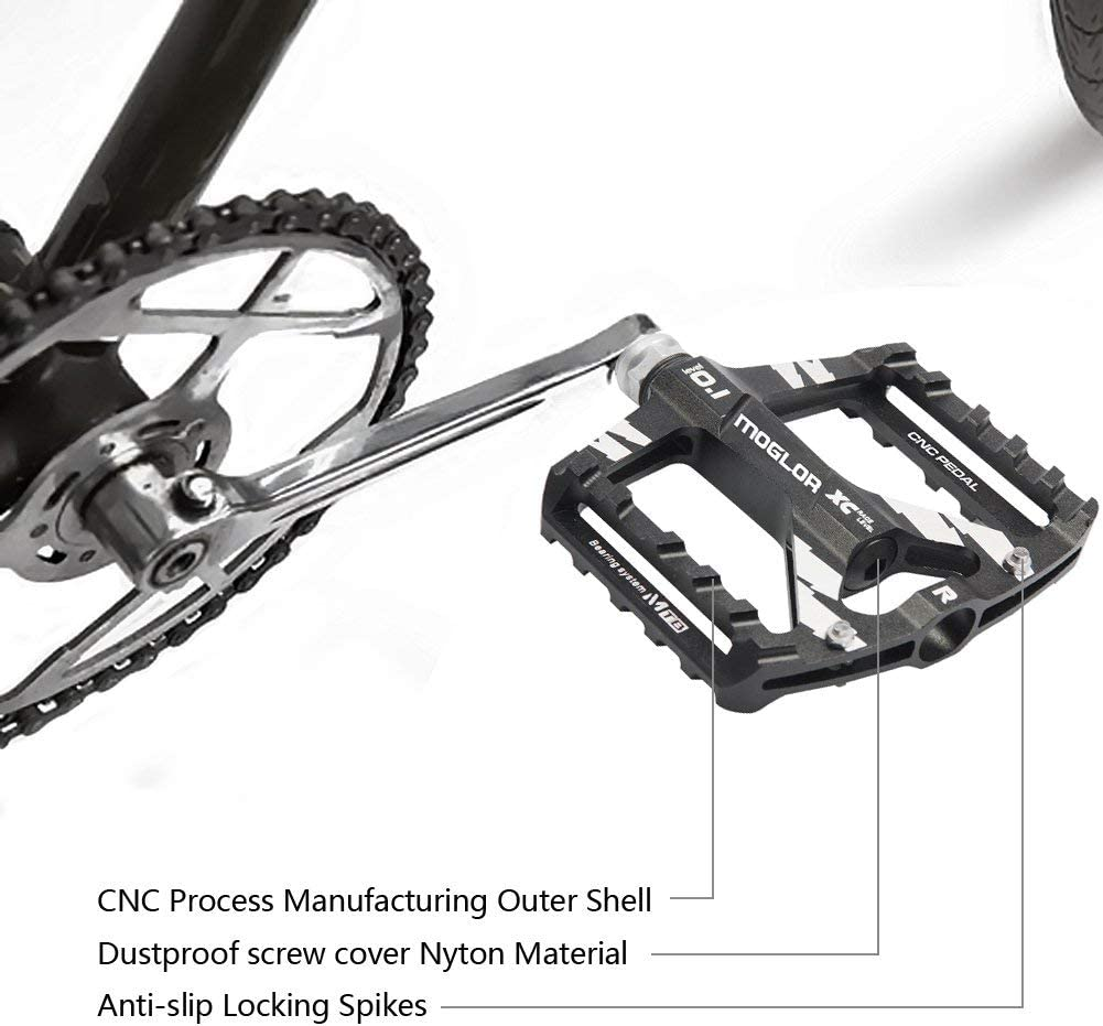 Pedales MTB Bicicleta Plataforma Bici Monta/ña BMX Carretera Ciclismo Aleaci/ón de Aluminio CNC 9//16 Rosca de Husillo Antideslizantes Ultraligero Teniendo Sellado Carreras